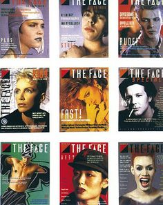 """©NEVILLE BRODY - 1980's """"The Face"""" covers by graphic designer Neville Brody - http://www.researchstudios.com/neville-brody/"""