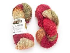 """Fiesta Yarns La Boheme in Vintage is a special yarn - it has a unique texture, it's hand dyed in the USA and this color can't yet be found in stores! So if you want to get a jump on your fellow yarn lovers, get a skein of this exclusive yarn at 33% off before it is available in stores! Click the image to claim yours now and click """"Repin"""" if you love this fantastic fiber!"""