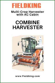 Introducing Fieldking Multi-Crop Harvester with AC Cabin. The Most innovative #Harvester for harvesting Multiple Crops is now the most comfortable one! Best suitable for #wetlands and in harvesting paddy along with wheat, barley, soyabean, corn etc. Please reach out to us at exports@fieldking.com or call us at +91-184-7156666 #CombineHarvester #harvesterprice #harvestermachine #combineharvestermachine #harvestermachineprice #combineharvesterprice #combineharvesterpriceinIndia Harvest Corn, Agriculture Machine, Combine Harvester, Cabins For Sale