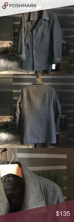 Marc New York Tweed Pea Coat In perfect condition. Very stylish tweed jacket that's perfect for these colder months. If you have any questions or concerns please leave a comment below and I'll get back to you as fast as I can. Andrew Marc Jackets & Coats Pea Coats