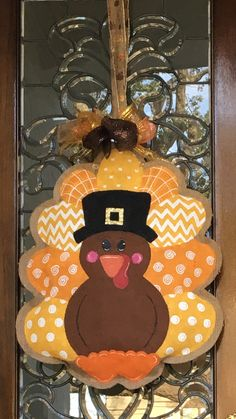 Turkey Burlap Door Hanger                                                                                                                                                                                 More