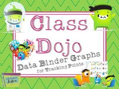 This update includes the actual Class Dojo avatars. Each graph includes black and white versions, and color avatar versions. Additional versions are full color. Original version with monster clipart is also located in my store, at a reduced price.