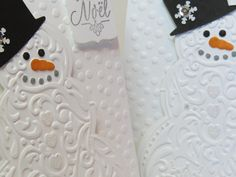 Carte de Noël, carte des fêtes, carte de Noël rustique, carte vintage, carte bonhomme de neige «Bonhomme de neige»  Stampin' Up! de la boutique Lamainalacarte sur Etsy