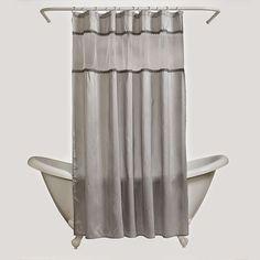 India Ink Alexa Fabric Shower Curtain