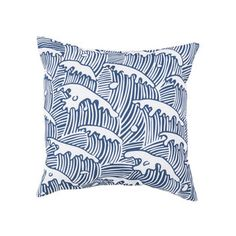 Tidal Waves Outdoor Pillow $40 DOT&BO