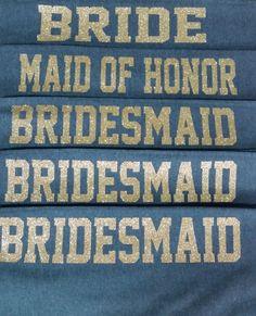 Bridesmaid Sweatpants in Regular or Glitter by CraftyLittleBug on Etsy