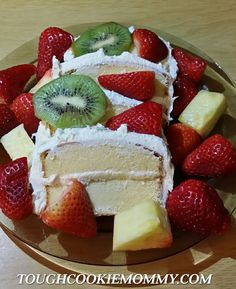 Creamy Fruit Topped Pound Cake dessert made with Sara Lee Pound Cake from @Tough Cookie Mommy.