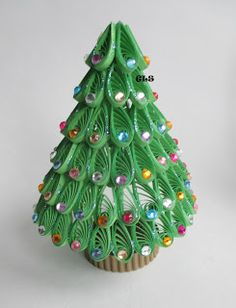 Quilled Miniature Christmas tree