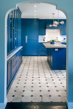 Antique cement tile flooring from a monastery in France | Mediterranean Kitchen by JWT Associates