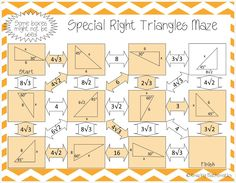 FREE PUZZLE MATH Special Right Triangles High School