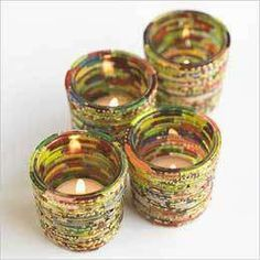 VivaTerra - Recycled Bangle Votives - Photo