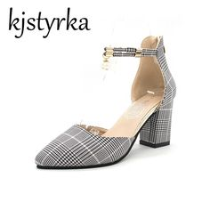 Kjstyrka Fashion woman pumps summer high heels Squar Heel Women Shoes Pointed Toe Dress Boat Shoes tenis feminino 2018. Yesterday's price: US $17.49 (14.40 EUR). Today's price: US $17.49 (14.43 EUR). Discount: 47%.