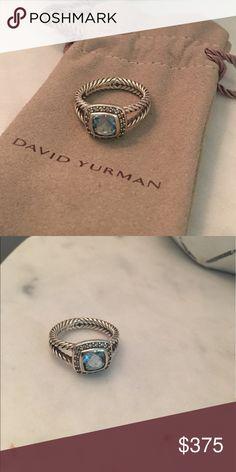 DAVID YURMAN PETITE ALBION RING Blue topaz size 7 DAVID YURMAN Petite Albion ring! David Yurman Jewelry Rings