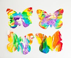 RAINBOW MARBLED BUTTERFLY PASTA ART