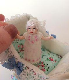 Dollhouse baby #Dollclothes #Miniatures #Dollhouse