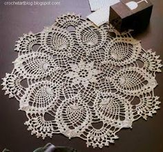 Crochet Doily Pineapple Lace crochet
