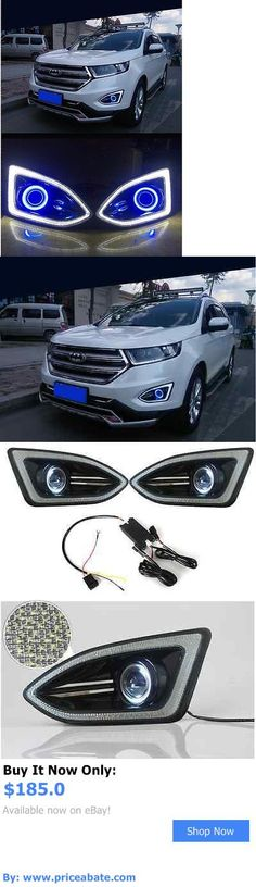 Motors Parts And Accessories For Ford Edge X Led Daytime Fog Lights Projector Angel Eye Kit Buy It Now Only
