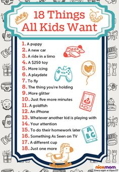 18 Things All Kids Want | More LOLs & Funny Stuff for Moms | NickMom