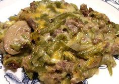 GREEN BEAN AND HAMBURGER CASSEROLE - Linda's Low Carb Menus & Recipes
