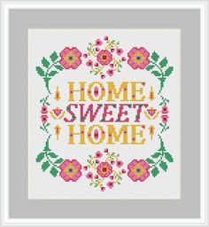 Christmas Cross, Christmas Humor, Gifts For Father, Gifts For Mom, Girls Princess Room, I Love You Mom, Modern Cross Stitch Patterns, Digital Pattern, Sweet Home