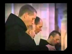 Monks singing Gregorian Chant in a Catholic Benedictine Seminary - Beautiful