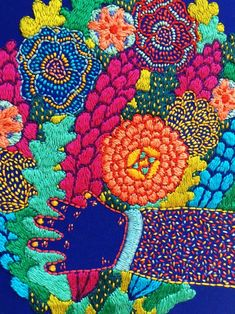 Creative Embroidery, Kids Rugs, Hands, Quilts, Blanket, Handmade, Home Decor, Embroidery, Hand Made