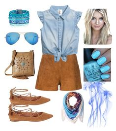 """""""Untitled #232"""" by martyswordrobe on Polyvore featuring Sigerson Morrison, M&F Western, rag & bone, Ray-Ban, Nude by Nature, OPI and Michael Stars"""