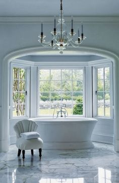 The bath is simple elegance at its best. Just add bubbles!