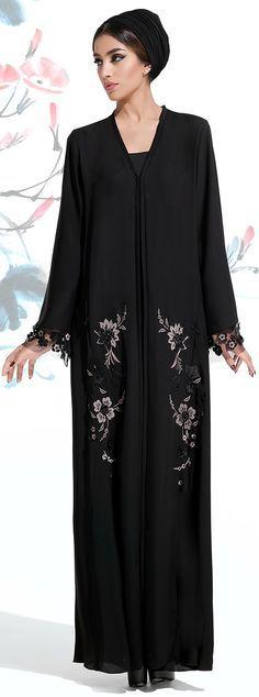 Mauzan Fall Winter 2015/16 Lasercut Silk Flowers Appliqued & Hand Embroidery