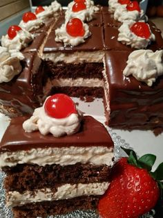 Greek Sweets, Greek Desserts, Greek Recipes, Greek Pastries, Cake Recipes, Dessert Recipes, Food Gallery, Food Snapchat, Good Foods To Eat