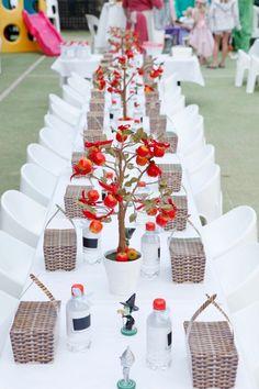 Ιδέα για τη δεξίωση της βάπτισης και το τραπέζι των παιδιών