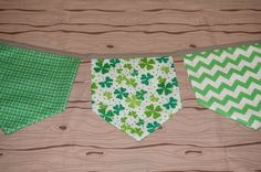 Be Lucky St. Patrick's Day fabric banner bunting by SunKissedPoppy, $28.00