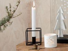 Kerzenständer - Quadrat, schwarz, klein-
