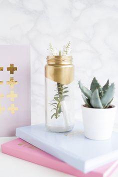 DIY Gold Detail Notebooks