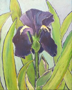 "First Iris- 8x10"" by SG Criswell (sold to TR)"