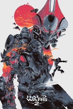Great Halo Wars 2 Posters by Gabz, Kevin Tong and Craig Drake ! – Geek Art – Art, Design, Illustration & Pop Culture !