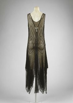 Evening Dress 1920, French, Made of cotton