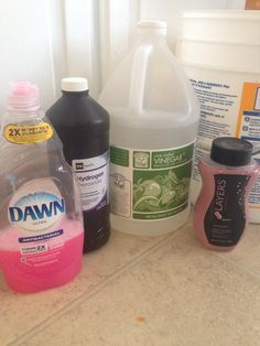 DIY carpet cleaner- Amanda's revised recipe: 1 gallon hot water, 1/2 cup hydrogen peroxide, 1/4 cup white vinegar, 4 tbsp dawn, & 1/2 cap of Scentsy washer whiffs - PERFECTO! and smells A-mazing! I've used Quiver, Coconut lemongrass, Ocean, & Black Raspberry vanilla Scentsy washer whiffs & all smelled fabulous & my carpets look incredible each time ! https://meganroliver.scentsy.us