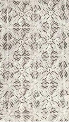 "Off white crocheted bedspread - the ""popcorn"" stitch."