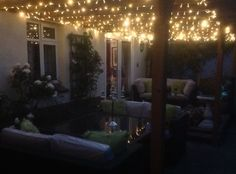 Outdoor White Lights On Gazebo I like this