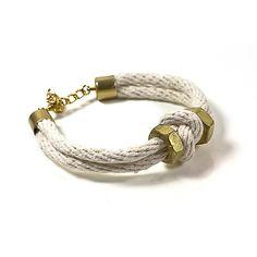 Knot bracelet with gold