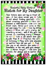 To My Daughter Ashley