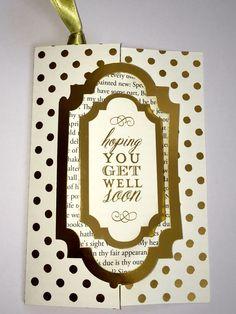 Bookmark card Fantastic Flips Card Making Kit Anna Griffin Jane Makuch / Jane Sews