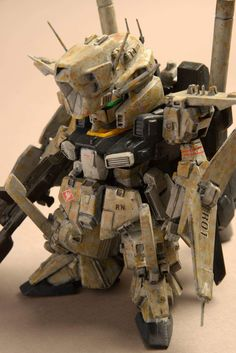 Builder: NRI Kits Used: SD Gundam ZZ The extreme weathering on this little guy somehow just tickles me :D