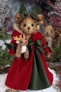 Christmas Teddy Bear - polly and prancer Christmas Teddy Bear, Christmas Love, Christmas Pictures, Rudolph Christmas, Teddy Bear Hug, Cute Teddy Bears, Felt Animals, Cute Animals, Teddy Bear Pictures
