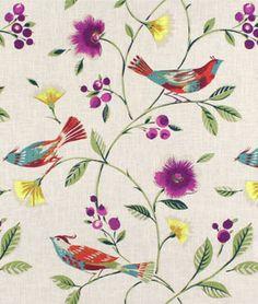UPHOLSTERY / DRAPERY Fabricut The Singing Tree Peacock Fabric | onlinefabricstore.net