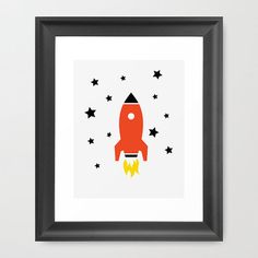 Rocket Ship Poster, Rocket Wall, Space Art, Boy's Room, Kids Poster, Outer Space - Google Search