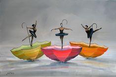 Plateforme de ventes aux enchères en ligne Catawiki : Christophe Gastaldi - Les danseuses aux parapluies