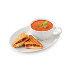 Product: LivingQuarters Whiteware 2-pc. Soup and Sandwich Tray