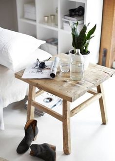1000 images about diy tables de chevet on pinterest. Black Bedroom Furniture Sets. Home Design Ideas